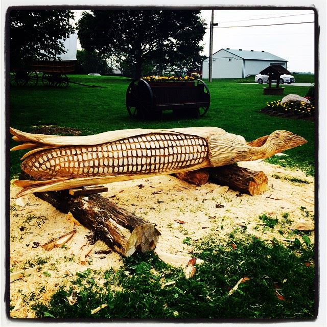 Carving, Corn, Ontario