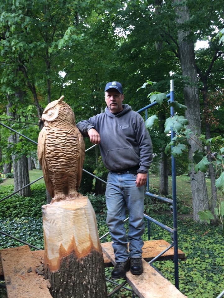 Carving, Bird, Owl