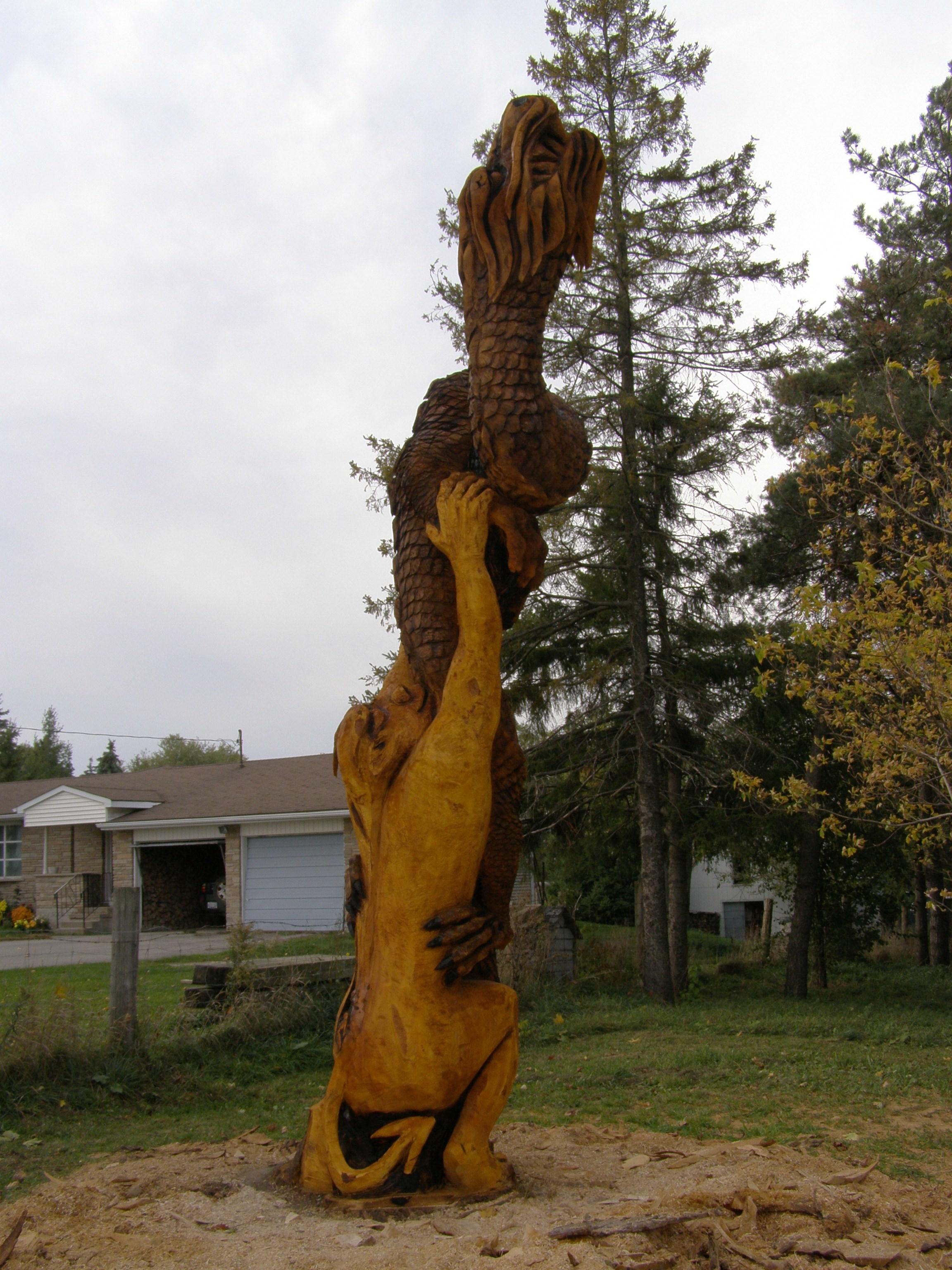 Carving, Dragon, Gargoyle