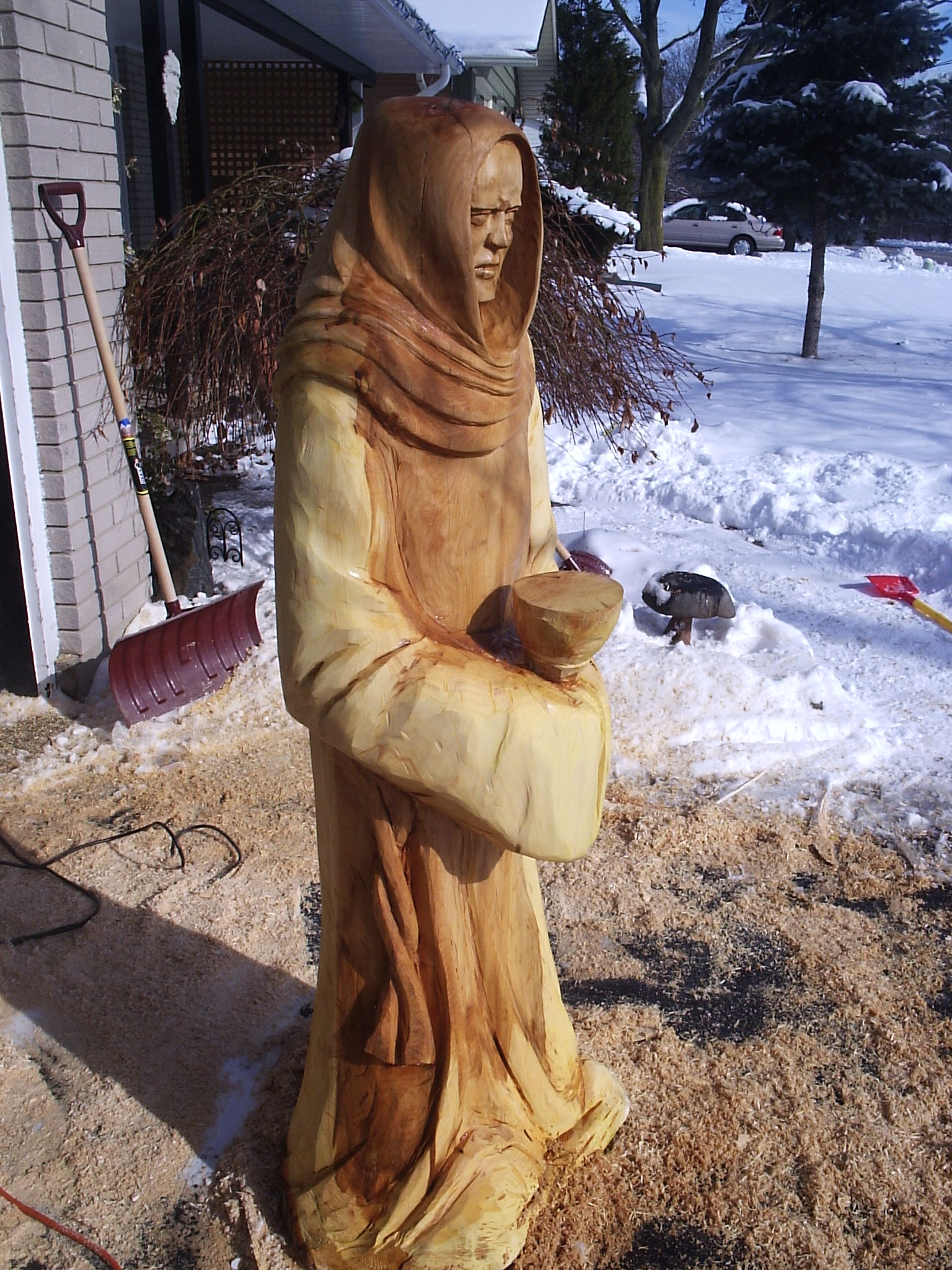 Chainsaw, Carving, Monk