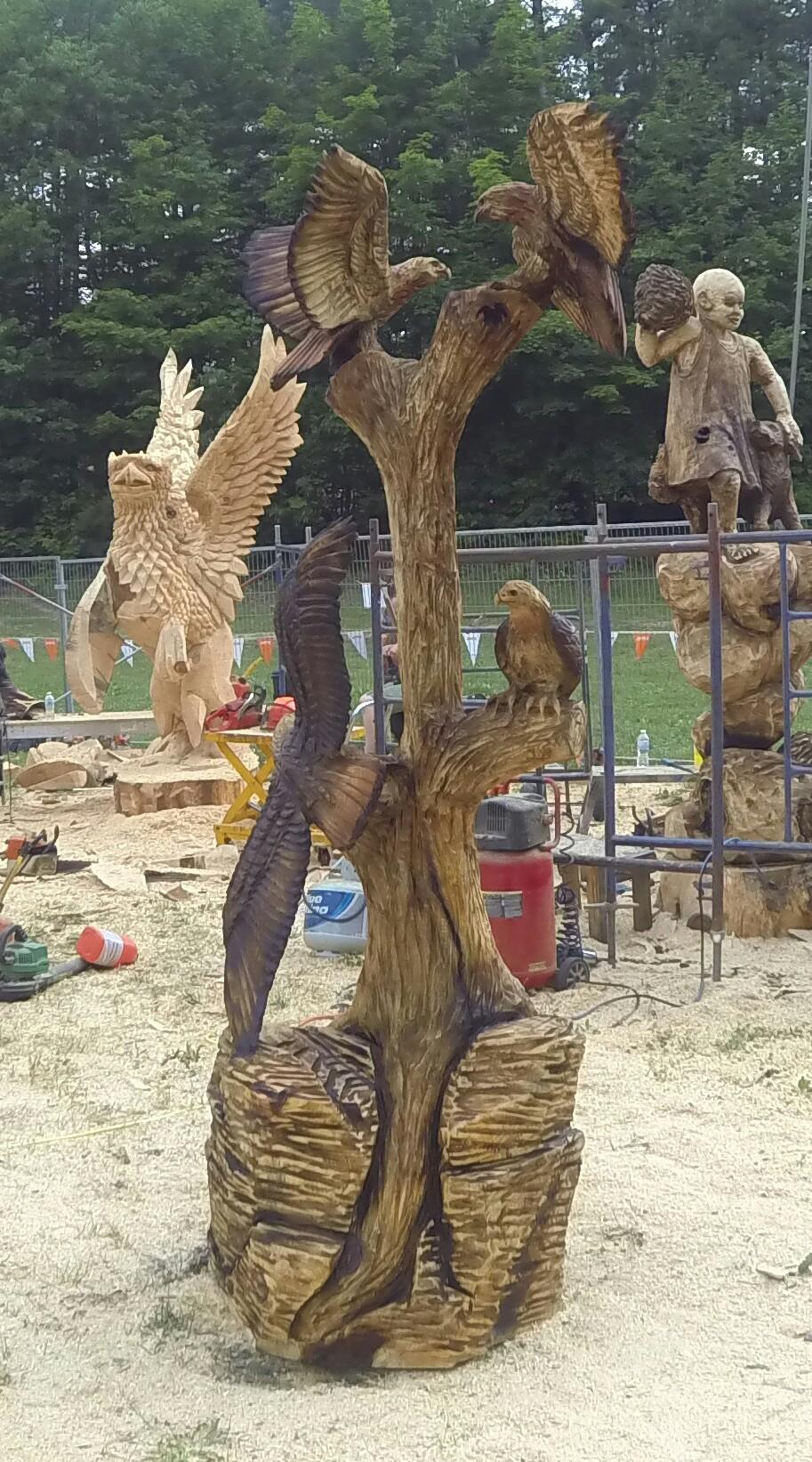 Wood, Totem, Hawks
