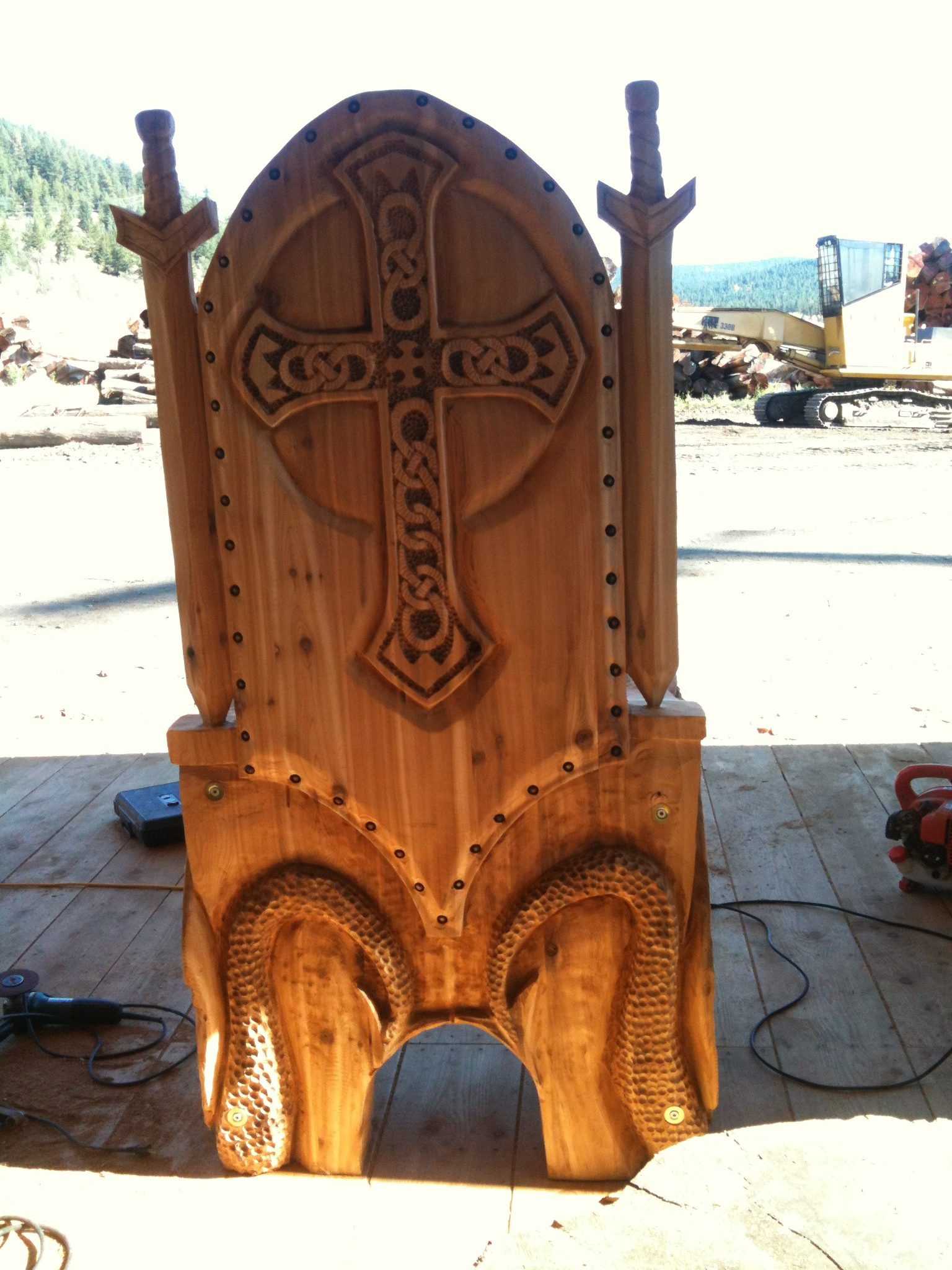 Throne, Chair, Carver Kings