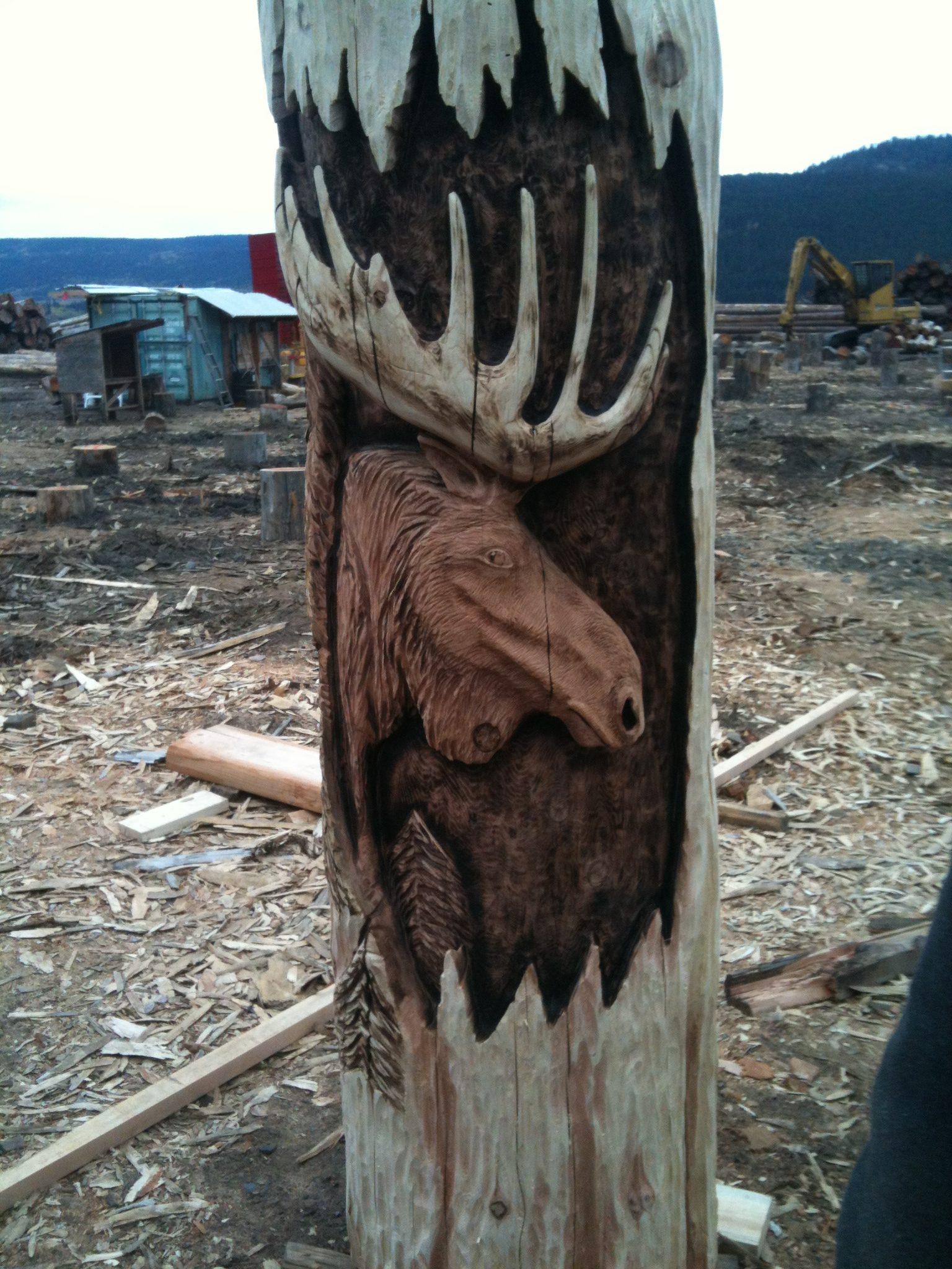 Carving, Wood, Moose