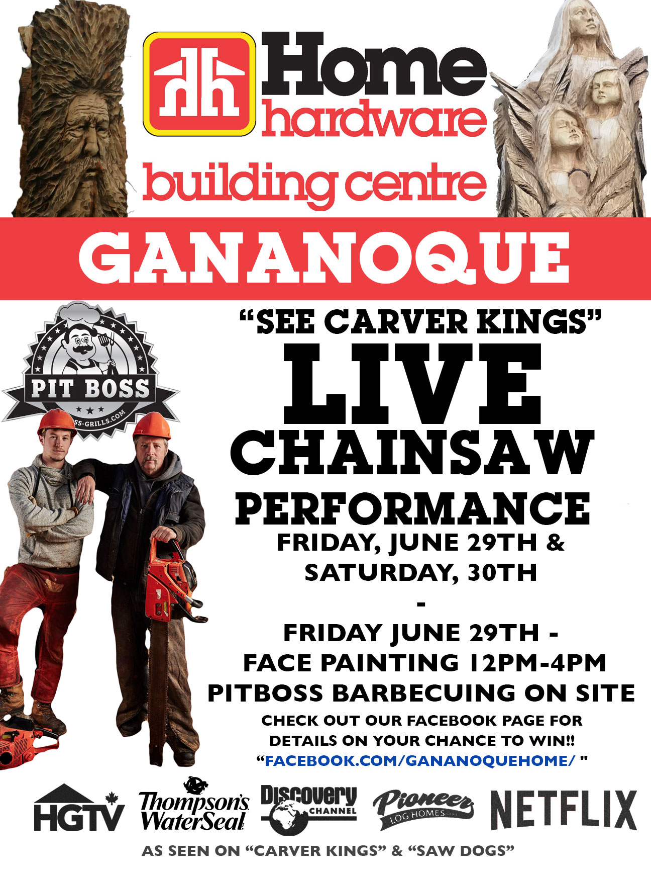 Gananoque Home Hardware Building Centre Carving Event