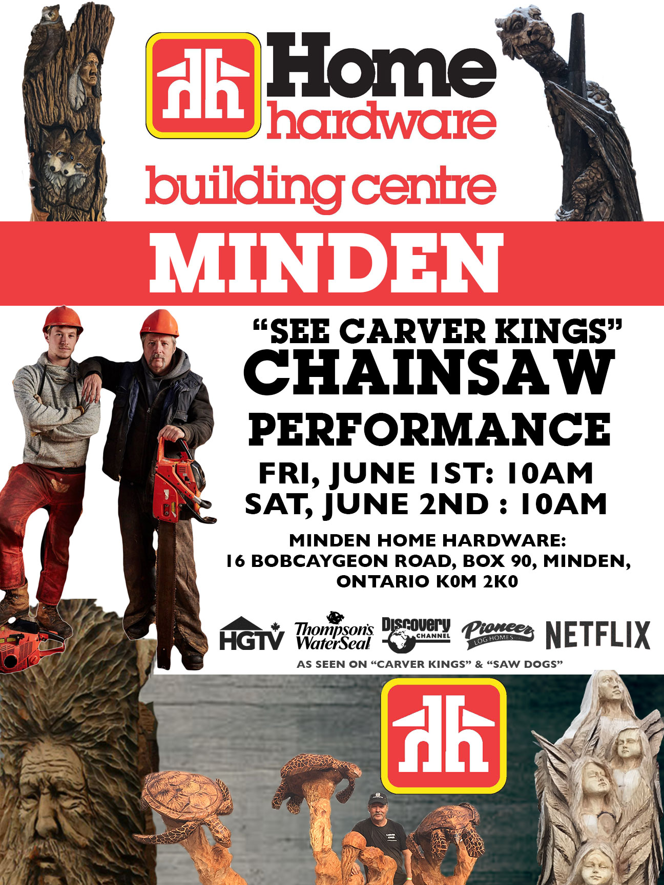 Minden Home Hardware Carving Event