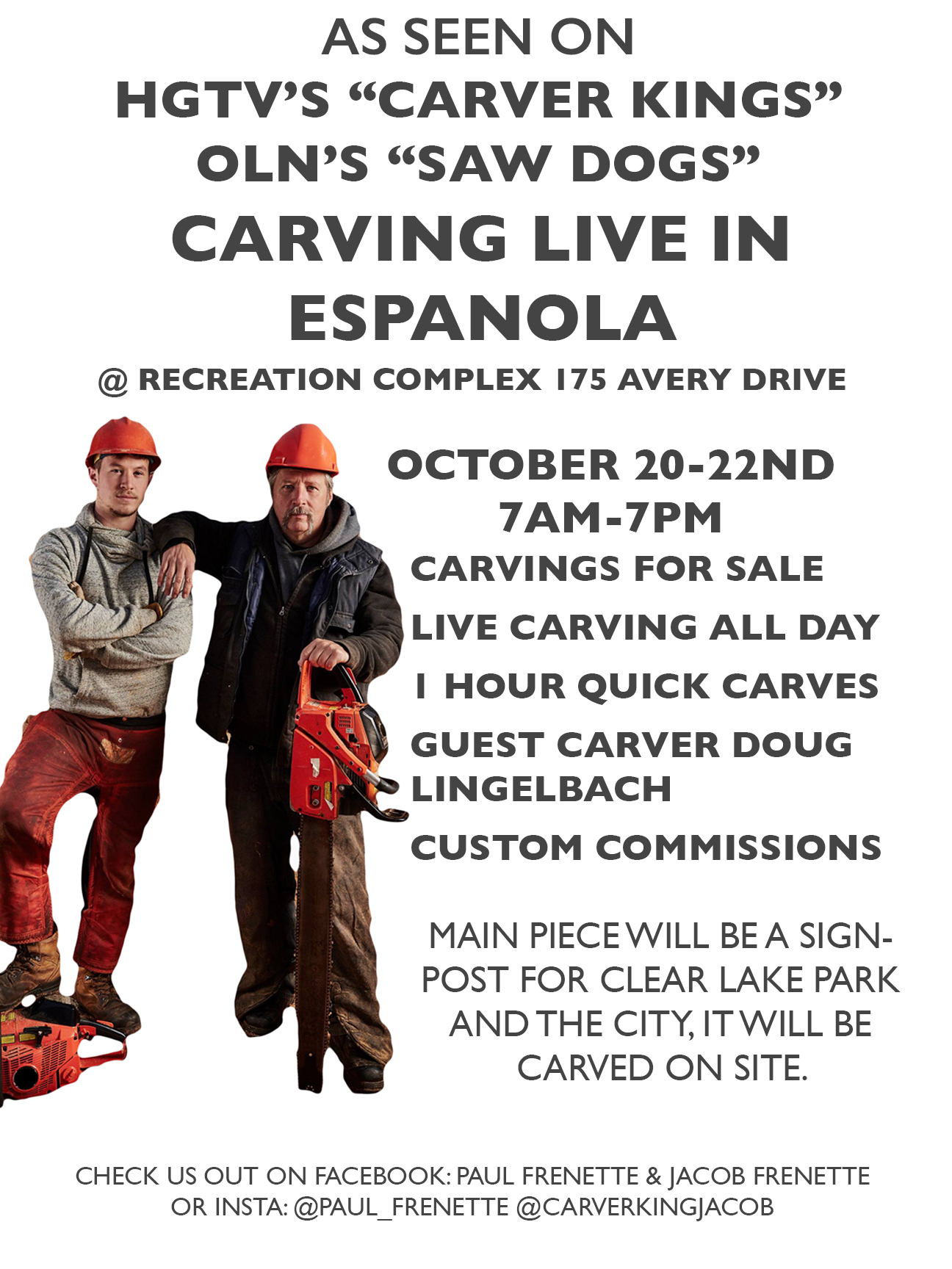 Live Carving in Espanola