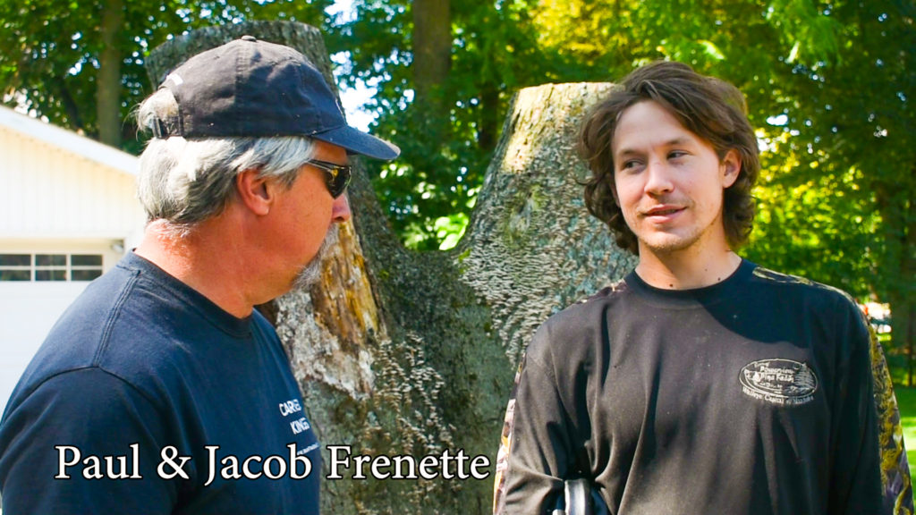 Carver Kings Paul and Jacob Frenette talk about the stump.